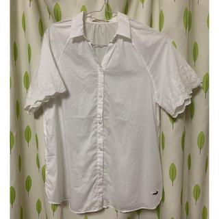 a8547ba2b9dc クロコダイル(Crocodile)のcrocodile 袖刺繍スキッパーシャツ(シャツ/ブラウス(半袖