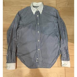 インディヴィジュアライズドシャツ(INDIVIDUALIZED SHIRTS)の美品 ストライプブラウス(シャツ/ブラウス(長袖/七分))