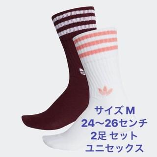 アディダス(adidas)の新品 アディダス サイズM ソックス 靴下 adidas  24〜26センチ (ソックス)