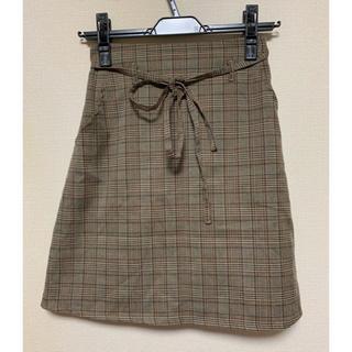 ワンアフターアナザーナイスクラップ(one after another NICE CLAUP)のチェックタイトスカート(ミニスカート)