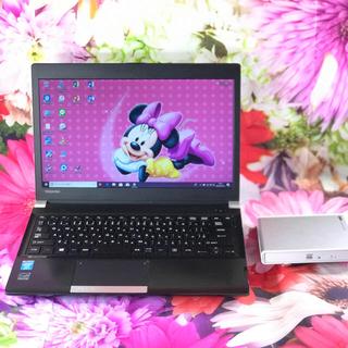 トウシバ(東芝)の東芝ノートパソコン本体R734 新品外付けDVDドライブ マイクロソフトオフィス(ノートPC)