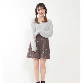 ワンアフターアナザーナイスクラップ(one after another NICE CLAUP)の刺繍スカート(ミニスカート)