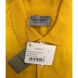 ジョンスメドレー(JOHN SMEDLEY)のJohn Smedley Payton メンズ ニット ポロ 黄色(ポロシャツ)