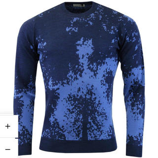 ジョンスメドレー(JOHN SMEDLEY)のJohn Smedley メンズ pullover ブルー(ニット/セーター)
