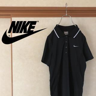 ナイキ(NIKE)の【新品未使用】NIKE ナイキ ラインポロシャツ ブラック レディース M(ポロシャツ)