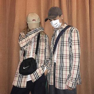 チェックシャツ バーバリーシャツ 大人気(Tシャツ/カットソー(半袖/袖なし))