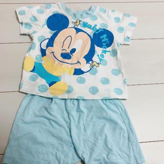 ディズニー(Disney)のミッキー 半袖パジャマ 80(パジャマ)