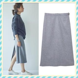 シー(SEA)の SEA ウールバッグスリットテーラードスカート RIE(ひざ丈スカート)