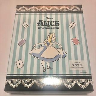ディズニー(Disney)の《ディズニー》不思議の国のアリス プレミアム型押しシステム手帳セット(キャラクターグッズ)