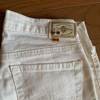 シマロン(CIMARRON)のスペイン製 CIMARRON ホワイトジーンズ 28インチ(デニム/ジーンズ)