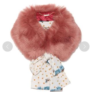 リリーブラウン(Lily Brown)のリリーブラウン 新品 スカーフ 付き ファーティペット ドット (マフラー/ショール)