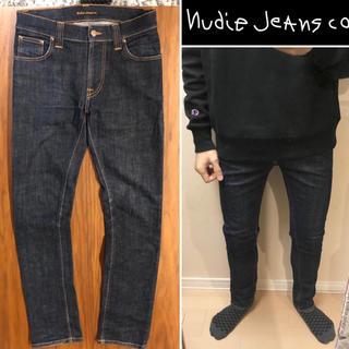 ヌーディジーンズ(Nudie Jeans)のNudie Jeansスキニーデニムダメージジーンズ インディゴデニム送料込(デニム/ジーンズ)