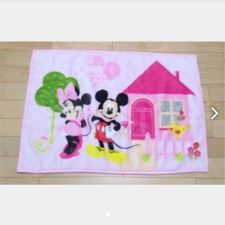 ディズニー(Disney)のディズニー ミッキー&ミニー ブランケット ひざ掛け おくるみ ベビー キッズ(毛布)