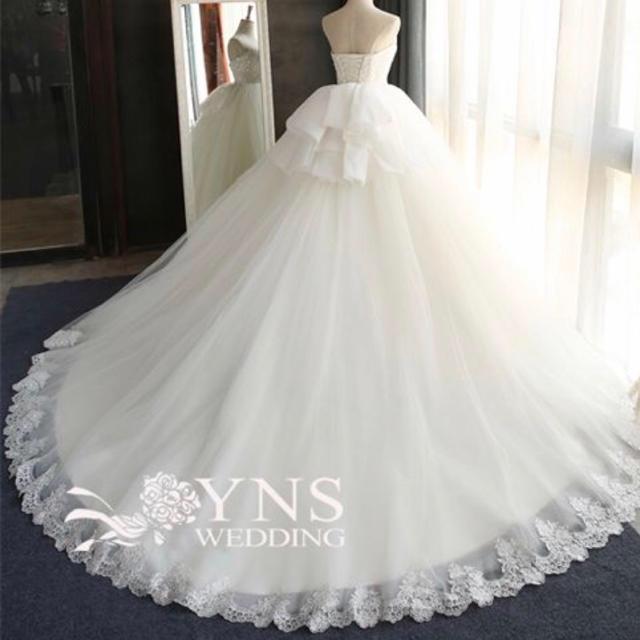 736847c535c7d YNSウエディング ウエディングドレス SC16313-MY バッグ パニエ付き レディースのフォーマル ドレス