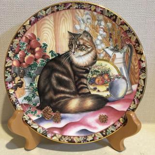 エインズレイ(Aynsley China)の【美品】エインズレイ 猫 秋 プレート 皿(食器)