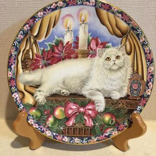 エインズレイ(Aynsley China)の【美品】エインズレイ 猫 冬 プレート 皿(食器)