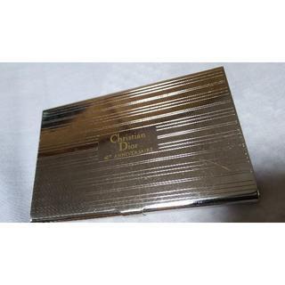クリスチャンディオール(Christian Dior)の正規 限定 40th ディオール ストライプシルバーカードケース メタル名刺入れ(名刺入れ/定期入れ)