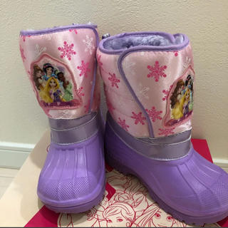 ディズニー(Disney)の18.0 美品 ディズニー プリンセス スノーブーツ(ブーツ)