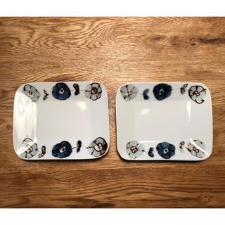 クタニセイヨウ(九谷青窯)の九谷青窯  高原真由美  長方皿  2枚セット(食器)