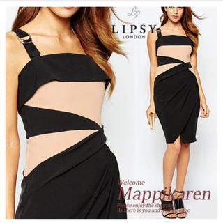 リプシー(Lipsy)の美品   Lipsy(リプシー  コントラストドレス (ひざ丈ワンピース)