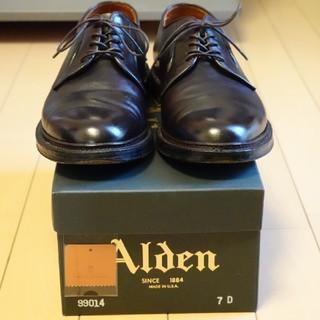 オールデン(Alden)のAlden オールデン カーフ バリーラストバーガンディプレーントゥsize7D(ドレス/ビジネス)