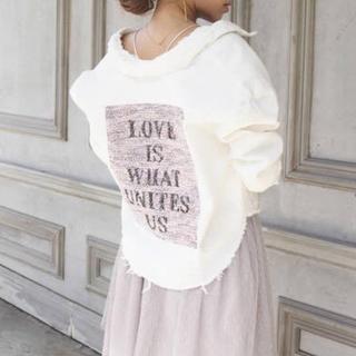 エイミーイストワール(eimy istoire)のMALHIA K ロゴツイードコンビデニムジャケット WHITE(Gジャン/デニムジャケット)