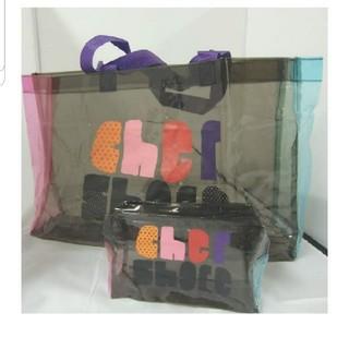 シェル(Cher)のレア!新品!シェルCherクリアバッグとポーチの豪華セット!(トートバッグ)