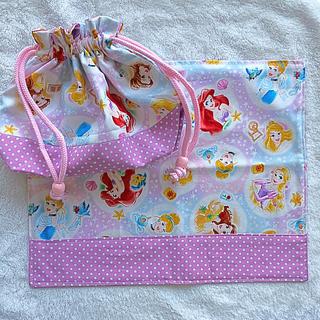 ディズニー(Disney)の入園・入学に♡トリオセットも入るお弁当袋♡ランチョンマット♡(外出用品)