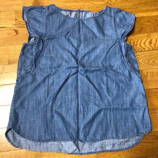 ジーユー(GU)のデニムシャツ (シャツ/ブラウス(半袖/袖なし))