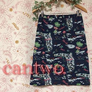 キャンツー(cantwo)のcantwo❁レーヨン素材が気持ちいい❁スカート❁Mサイズ(ひざ丈スカート)