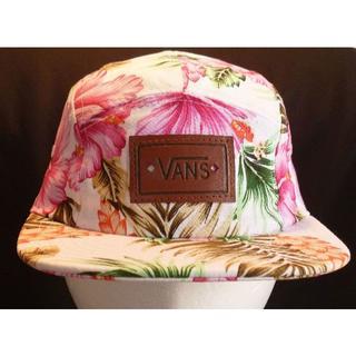 ヴァンズ(VANS)のバンズ/WORKHAT/フラワーPT/WHITE/送料込/新品(ハット)