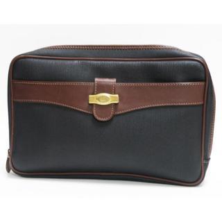 ダンヒル(Dunhill)のdunhillダンヒル セカンドバッグ グレー×茶 メンズ 良品 正規品  (セカンドバッグ/クラッチバッグ)