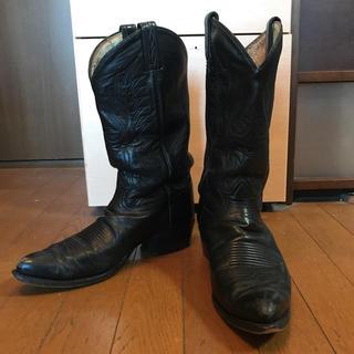 トニーラマ(Tony Lama)の黒タグ 70s TonyLama トニーラマ 本革ウエスタンブーツ 28cm(ブーツ)