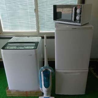 Panasonic - (地域限定送料無料)冷蔵庫 洗濯機 電子レンジ 掃除機セット (引き取り大歓迎)