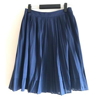 アマカ(AMACA)のAMACA ネイビースカート(ひざ丈スカート)