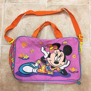 ディズニー(Disney)のミニーマウスのナイロンショルダーバッグ(レッスンバッグ)