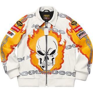 シュプリーム(Supreme)のM Supreme Vanson Leather Jacket 白 国内正規品(レザージャケット)