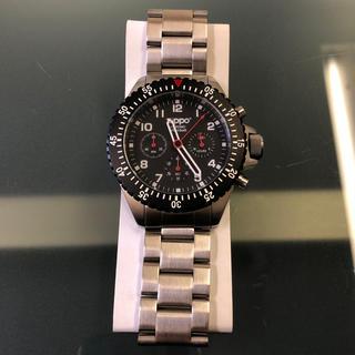 ジッポー(ZIPPO)のzippo クロノグラフ 腕時計 ジッポー 新品 コレクション 黒(腕時計(アナログ))