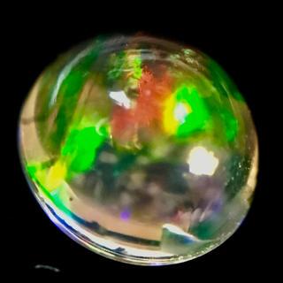 大特価 オーロラのような遊色 0.4ct UP 天然 オパール ルース 鑑付き(リング(指輪))