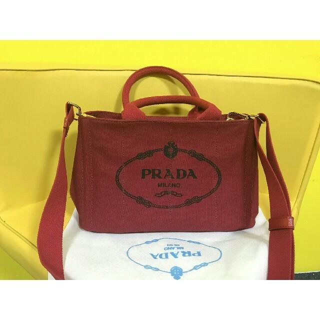 ef82da0d1c21 PRADA(プラダ)のPrada キャンバ スレディース ショルダーバッグ ハンドバッグ人気中古未使用