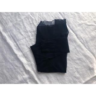 黒のシースルーカットソー(カットソー(長袖/七分))