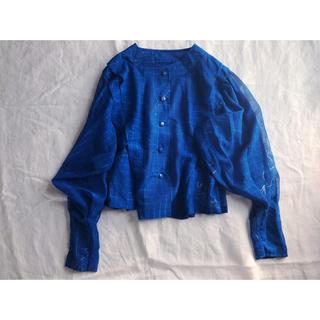 ブルーのラメブラウス(シャツ/ブラウス(長袖/七分))