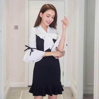 a8a79c3a1e6b4 ゴゴシング(GOGOSING)の韓国 ワンピース インポート 韓国ファッション(ミニワンピース)