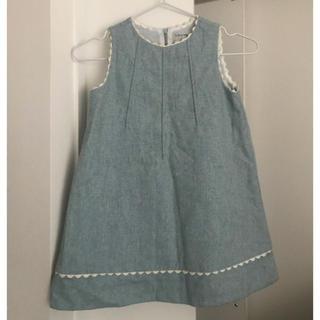ザラ(ZARA)の!Zara ブルー系 ワンピース 110サイズ キッズ ノースリーブ ドレス(ドレス/フォーマル)