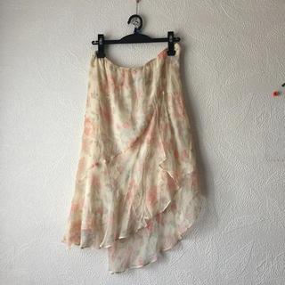 オーガスト(AUGUST)のAUGUST SILK sportswear サイズ8シルク100%スカート(ひざ丈スカート)