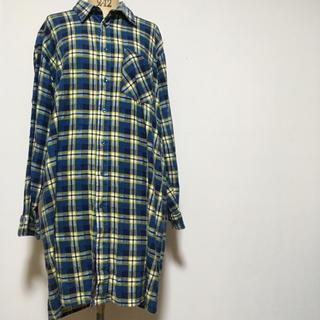 ジョンリンクス(jonnlynx)のオーバーサイズ vintage  チェックネルシャツ(シャツ/ブラウス(長袖/七分))