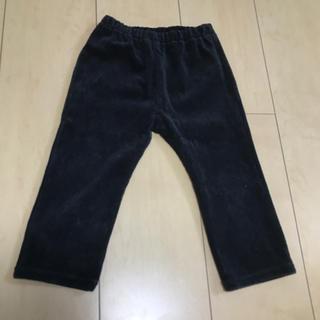 ムジルシリョウヒン(MUJI (無印良品))の無印良品 コーデュロイパンツ90サイズ黒 保育園幼稚園 男の子女の子 ズボン(パンツ/スパッツ)