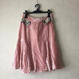マークジェイコブス(MARC JACOBS)のMARC JACOBSシルク100%スカート サイズ6大きめサイズ(ひざ丈スカート)