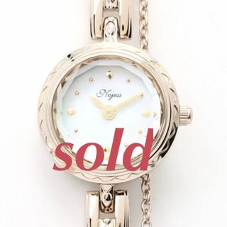 ノジェス(NOJESS)の週末お値下げ⚘付属品全て有⚘未使用NOJESSジュエリーウォッチブラウンゴールド(腕時計)