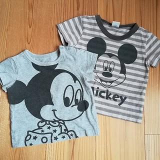 ディズニー(Disney)のミッキー 半袖Tシャツ 2枚セット まとめ売り(Tシャツ)